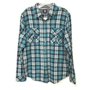 Nomad Surf Shop Dougy Plaid Cotton Flannel Shirt